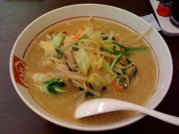 味噌野菜ラーメン/くるまやラーメン