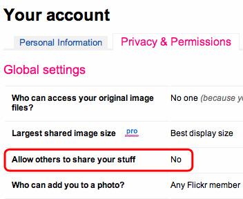 Flickrの写真をPintarestにpinする