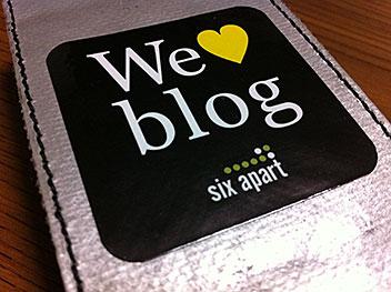 FREITAG F23 Fi-Pod SleeveにWe ♥ blogステッカーを貼った