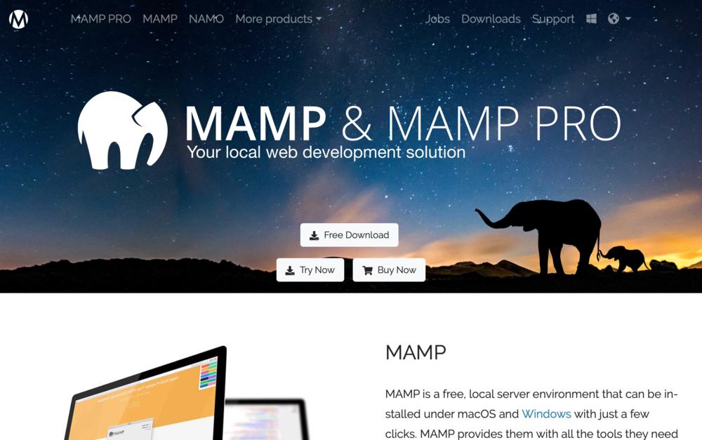 MAMPでローカル環境を構築する