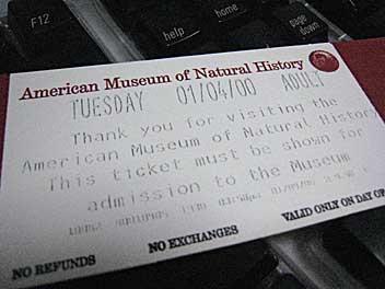 アメリカ自然史博物館のチケット/ナイト ミュージアム/NIGHT MUSEUM